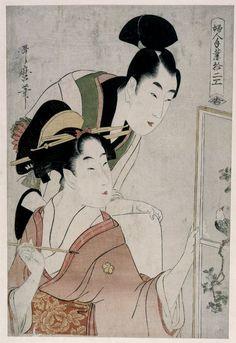 Kitagawa Utamaro ~ Fujin Tewaza Juni-ko