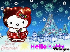 For the younger visitors or if you've got kids then this Hello Kitty Christmas wallpaper is going to be just perfect for you. Everyone loves Hello Kitty, the adorable cat cartoon, you'll love it ev. Free Christmas Wallpaper Backgrounds, Disney Desktop Wallpaper, Merry Christmas Wallpaper, Hello Kitty Backgrounds, Winter Wallpaper, Hello Kitty Wallpaper, Wallpaper Ideas, Desktop Wallpapers, Hello Kitty Natal