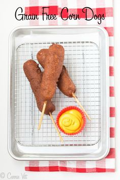 Corn Dog Recipe (Paleo, Grain Free, Gluten Free, Primal)  -  My kids adore the Corn Dog so you cannot have enough recipes for this.  Beside most people who eat gluten-free had vastly improved ADHD symptoms. #additudemag #adhdplate