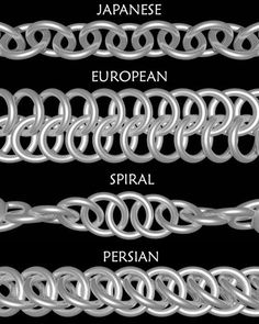 Free Chainmail Patterns Chain Maille in 1 chain this is the 2 in 1 chain also called 1 on 1 it is the . - Maille Artisans International League - chain mail all over the worldThinking about a chain maille class in context of weaver Tony Bible's upcoming ex Wire Wrapped Jewelry, Wire Jewelry, Jewelry Crafts, Beaded Jewelry, Jewelry Rings, Handmade Jewelry, Silver Jewelry, Silver Earrings, Jewelry Box