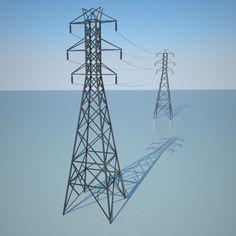 3D Electric Line Model - 3D Model