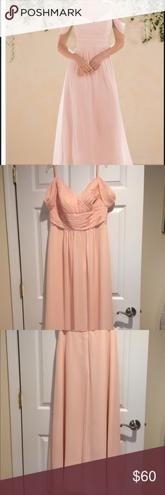 """Jasmine Chiffon Dress Floor length gown. Dress Size: 16. Color:Dreamsicle. Hemmed perfectly for someone 5'4"""". Worn once, dry cleaned. Jasmine Dresses"""