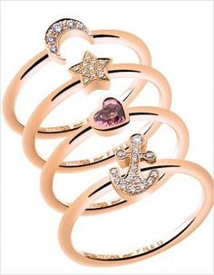 Rose gold rings - Kate Moss for Fred