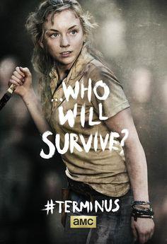 TheWalkingDead Terminus Beth The Walking Dead : Carol, Tyreese, Beth et Glenn saffichent pour la fin de la saison 4