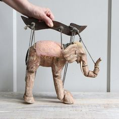 How incredible is this! Antique Elephant Marrionette by ethanollie on Etsy, $89.00
