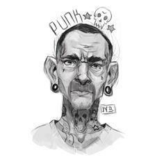 Punk4life, Nathan Boyes on ArtStation at https://www.artstation.com/artwork/punk4life