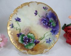 Antique 1900s hand painted Limoges porcelain by FieldfareVintage