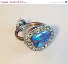 HOLIDAY SALE Gorgeous opal doublet sterling by YaronaJewelryDesign