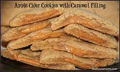 Apple Cider Cookies with Caramel Filling will be gone as fast as you can bake them! Great method for making apple cider flavored baked goods too! Apple Recipes, Fall Recipes, Sweet Recipes, Cookie Recipes, Dessert Recipes, Just Desserts, Delicious Desserts, Yummy Food, Yummy Snacks