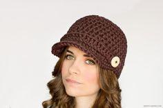 Nifty Newsboy Hat Crochet Pattern
