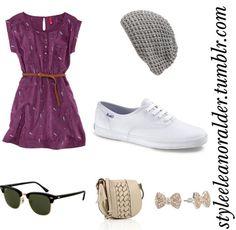 Keds with dress :)