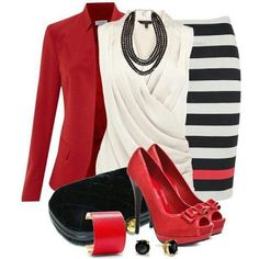 Cute outfit for work ~ New Women's Clothing Styles & Fashions SHOES AGAIN I LIKE A SMALL HEEL NOT EVERYONE  CAN WEAR SHOES THIS HIGH
