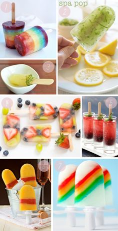 homemade popsicles.