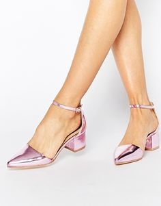 Truffle Collection Molly Ankle Strap Mid Heeled Shoes