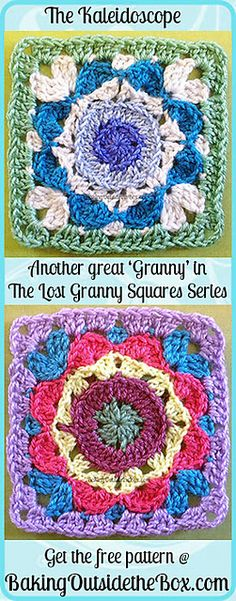 Ravelry: The Kaleidoscope Pattern — The Lost Granny Squares Series pattern by Laura Hickman