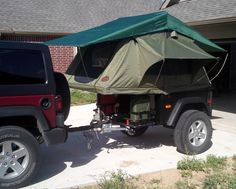 Another new fiberglass Dinoot Jeep trailer hitting the road, this one in Texas