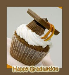 Graduation cupcakes with Reese's Peanut Butter Cups