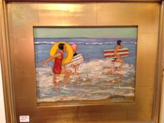 Painting by Girard Avenue Collection featured artist Alyce Quackenbush #art #lajolla