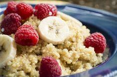 Breakfast Quinoa - So Nice Quinoa Breakfast, Protein Packed Breakfast, Breakfast On The Go, Breakfast Ideas, Gluten Free Recipes, Healthy Recipes, Healthy Foods, Nutrition, Edamame