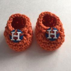 Houston Astros baby booties
