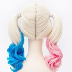 #SuicideSquadHarleyQuinn #HarleyQuinnWigs #HarleyQuinnCostume. Buy Harley Quinn New Synthetic Peluca Curly Wigs for Women.