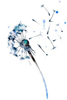 Aquarell Löwenzahn - Tattoo Trends and Lifestyle Watercolor Dandelion Tattoo, Watercolor Print, Watercolor Paintings, Dandelion Tattoos, Dandelion Tattoo Design, Dandelion Tattoo Meaning, Dandelion Painting, Watercolors, Dandelion Designs