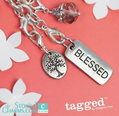 Blessed Tree of Life Tagged Necklace by Origami Owl from StoriedCharms.com