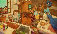 Love is…? 韓國藝術家的暖心戀人插畫,讓你重溫愛情中那些微小而幸福的事 ‧ A Day Magazine