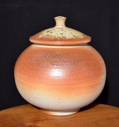 David Shaner Wood Fired Porcelain Cover-Jar