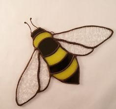 Stained Glass Bumble Bee Bee Suncatcher Glass Bee