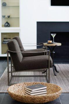 Bernhardt | Dekker Chair, Antiquarian Chairside Table