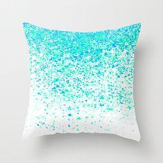 sparkling mint Throw Pillow