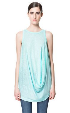 Great mexico tank.Image 1 of DRAPED TOP from Zara