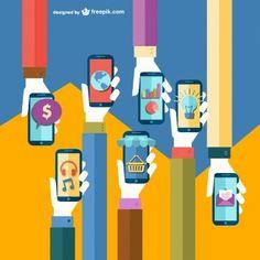 Ilustración aplicaciones de móvil