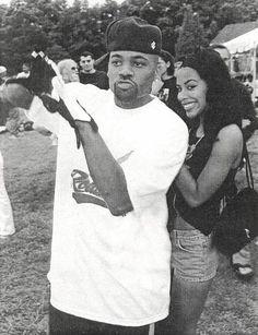 Aaliyah & Damon Dash.