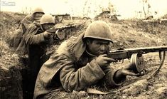 Soviet infantry in a trench in the vicinity of Berlin take aim at the enemy, March-April Soviet Army, Red Army, American Revolution, Armed Forces, Savannah Chat, Savannah Georgia, Warfare, World War Ii, Wwii