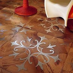 this is divine - metallic marquetry inlay!