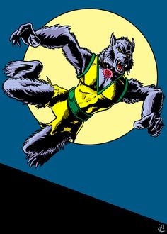 Saturday Sketch: Bronze Age Man-Wolf #Spiderman #Marvel #Comics #Lycanthrope #Sketchcard