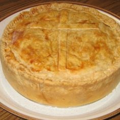 "a hell of a predecessor to the ""ham pie"" we eat today! // Italian Easter Pie (Pizza Chena)"