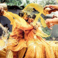 Top 5 Reasons that Represents Haldi Rasam Meaning Mehendi Photography, Indian Wedding Couple Photography, Indian Wedding Photos, Wedding Couple Photos, Pre Wedding Photoshoot, Wedding Poses, Wedding Couples, Wedding Pictures, Indian Weddings