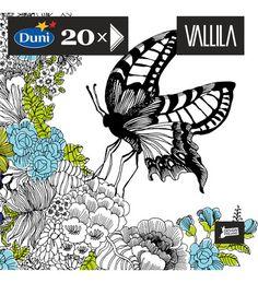 Vallila Mon Amour perhonen servetti koko 33x33. VAIN TUOTA KOKOA. 1,90€ (käy muutkin Vallillan servetit kunhan on tuota haluaamani kokoa)