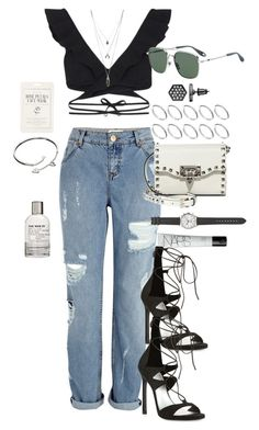 """Untitled #1083"" by marissa-91 ❤ liked on Polyvore featuring Zimmermann, River Island, Valentino, Givenchy, Cartier, ASOS, Forever 21, J.Crew, Simply Vera and NARS Cosmetics"