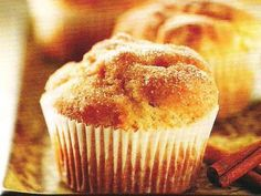 A box of pancake mix is the secret to these super moist muffins--just mix, bake and dip in butter, cinnamon and sugar.