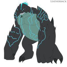 """here's JONNY! its Leatherback, hope you guys enjoy. (Base Design belongs to ) Leatherback Godzilla, Monster Drawing, Monster Art, Dragon Nest Warrior, Pacific Rim Kaiju, Wolf Spirit Animal, Pyrus, Fantasy Monster, Attack On Titan Art"
