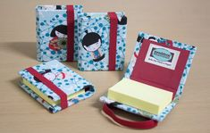 Bloco Autoadesivo - tipo Post-it no Elo7 | Lie Tsuchiya (3FF88E) Cardboard Crafts Kids, Vbs Crafts, Diy Little Books, Sticky Note Crafts, Dvd Case Crafts, Matchbox Crafts, Stationary Gifts, Diy Back To School, Diy Calendar