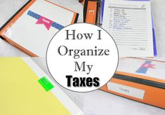 How to Easily Organize Tax Documents (I'm an Organizing Junkie) Organizing Paperwork, Paper Organization, Life Organization, Organizing Life, Home Filing System, Crochet Coin Purse, Clutter Solutions, Life Binder, Declutter Your Life