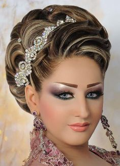 Best Wedding Hairstyles, Modern Hairstyles, Bride Hairstyles, Pretty Hairstyles, Arabic Makeup, Sexy Makeup, Hair Makeup, Pinterest Hair, Bridal Makeup