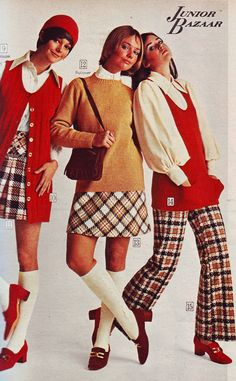 All sizes | Sears 1970 fw plaids reds | Flickr - Photo Sharing! Lucy Angle, Cay Sanderson and Colleen Corby.