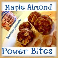 Ripped Recipes - Maple Almond Pb Power Bites - Only a handful of totally clean ingredients.Its a fast easy go o snack or treat that is packed with energy. The mighty maple peanut butter taste has an awesome taste! Healthy Baking, Healthy Snacks, Healthy Recipes, Maple Dessert Recipes, Peanut Butter And Co, Ripped Recipes, Clean Eating Desserts, Fast Metabolism, Recipe Using