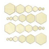 Calico V. 3 Wood Veneer Hexagons dlo